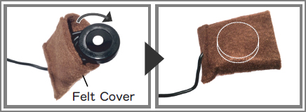 how to use felt cover of magnet setter